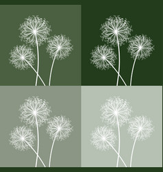 set of three dandelions vector image