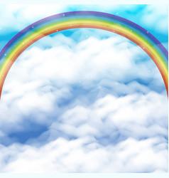 sky with rainbow vector image
