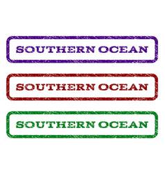 Southern ocean watermark stamp vector