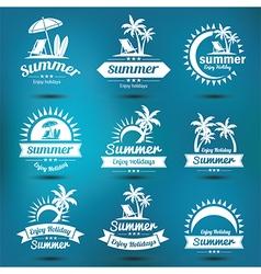 Summer emblem 2 vector