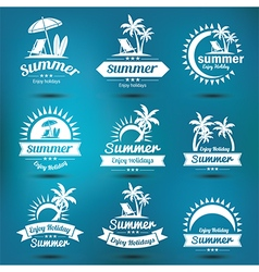 Summer emblem 2 vector image