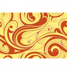 Swirly floral abstract vector