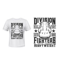 t-shirt print with hippo head vector image