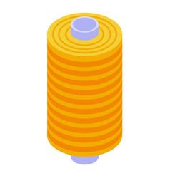 thread bobine icon isometric style vector image