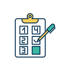 To-do list creating rgb color icon vector