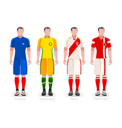 world cup group c jerseys kit vector image