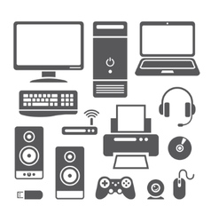 Computer devices icons vector image vector image