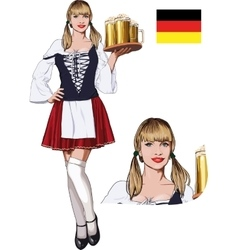 Sexy Bavarian girl vector image vector image