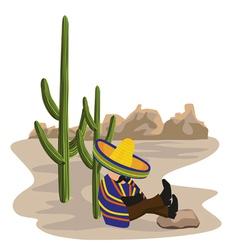 sleeping mexican vector image vector image