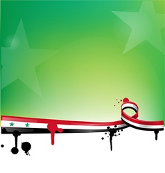 syria background with flag vector image vector image