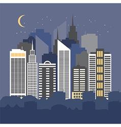 a city at night vector image vector image