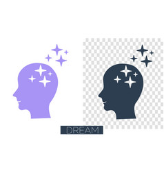 concept of realization of a dream vector image