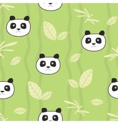 Cute pandas seamless pattern vector image vector image