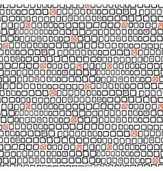 Geometric pattern with small hand drawn squares vector image