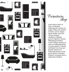 Home interior furniture background vector image