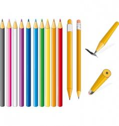 pencil set vector image