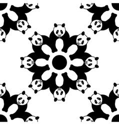 seamless panda pattern vector image