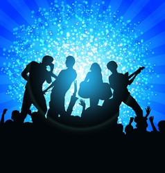 singing and dancing vector image