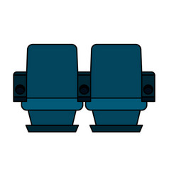 Theater chairs icon image vector