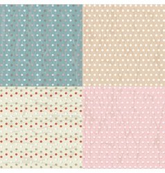 Vintage Paper With Polka Dots Set vector image