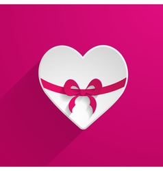 3d paper heart icon vector image vector image