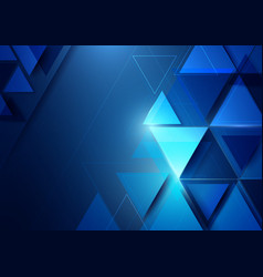 Abstract geometric shape and technology background vector