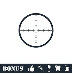 Aim icon flat vector image vector image