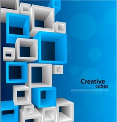 Background with 3d element vector image vector image