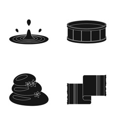 drops of water pool or basin with hot water spa vector image