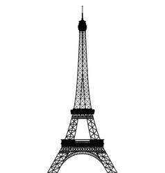 silhouette of eiffel tower vector image