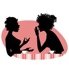 Women talking vector image vector image