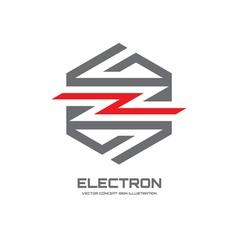 Electron - logo concept vector image