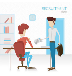 flat the applicant will vector image