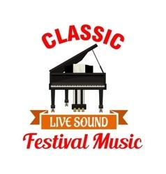 Piano Classic music festival emblem vector image vector image