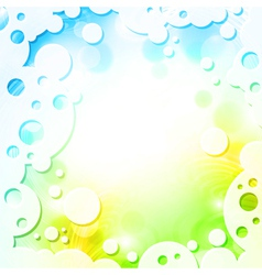 spring colors background in frame vector image vector image