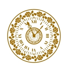 Watch face antique clock vector image vector image