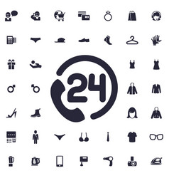 24 hour support icon vector