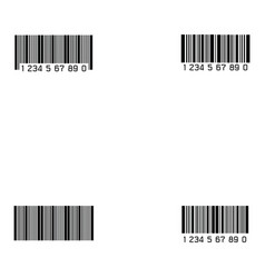 bar code icon set vector image