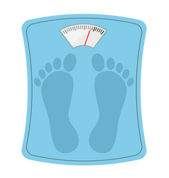 Bathroom weight scale with feet track stock vector