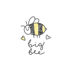 Big bee logo vector