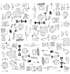 Big doodle element school hand draw vector