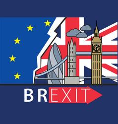 brexit great britain leaving eu vector image