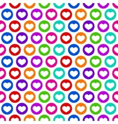 Bright color heart seamless pattern vector