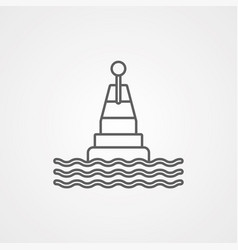 buoy icon sign symbol vector image
