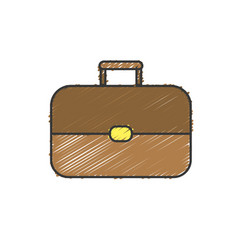 Business suitcase to save important document vector