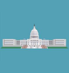 Capitol building united states america vector