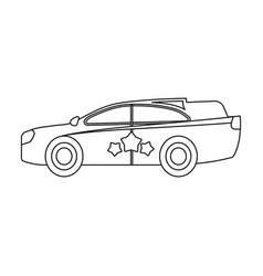 Car single icon in flat stylecar symbol vector