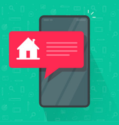 cell phone automated smart home notice information vector image