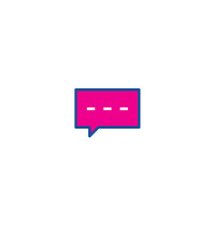 chatting thin line color icon icon for web and vector image