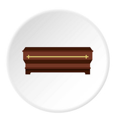 Coffin icon circle vector